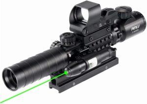 Pinty Rifle Scope 3-9x32 Rangefinder Illuminated Reflex Sight