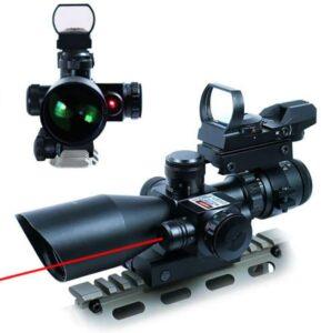 UUQ 2.5-10x40 Tactical Rifle Scope Dual Illuminated Mil-dot
